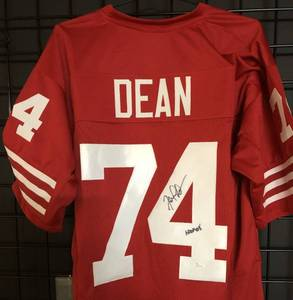 Signed Fred Dean San Francisco 49ers Full Sized Jersey - Hall of Fame Inscription - James Spence (JSA) Witnessed Certificate of Authenticity