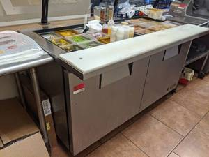 True Refrigerated Prep Table TSSU-60-24M-B-ST