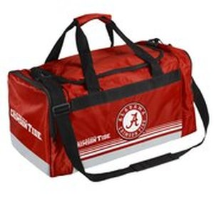 Alabama Crimson Tide Official NCAA 19 inch x 12 inch x 8 inch Striped Core Duffle Bag by Forever Collectibles