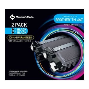 Member's Mark 980150296 Brother Tn6602 Toner Cartridges Black, 2-pack