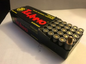 Box of 50 cartridges 9 mm