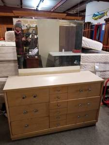 Mid Century Dresser with Mirror