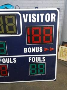 Fair Play by Trans-Lux Gym Sized Electronic Scoreboard 5ft x 9ft
