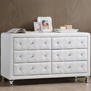 Baxton Studio Luminescence Wood Contemporary Upholstered Dresser, White