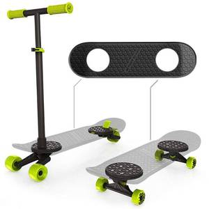 Morfboard 2-in-1 Skateboard & Scooter Kids 8+ Combo Set Highlighter Yellow/black