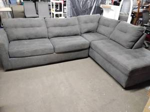 Nice 2 Piece Gray Sectional