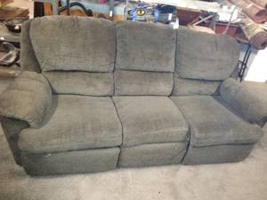 Nice Couch with Dual Recliners