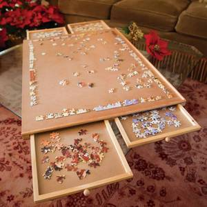 Bits And Pieces - Jumbo Size Wooden Puzzle Plateau-smooth Fiberboard Work...