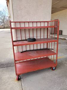 4 Tier Red Cart on Wheels