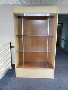 Large Display Cabinet with 4 Glass Shelves and 2 Glass Doors also includes Lighting