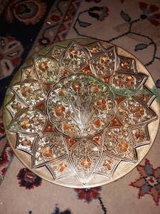 Middle Eastern Copper Turned Plate