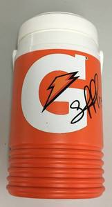 Signed Salvador Perez Mini Gatorade Bottle Kansas City Royals with JSA James Spence Authentication WITNESSED - 18 Inches Tall