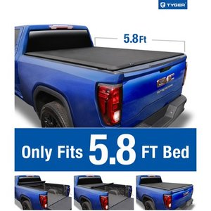 Tyger Auto T1 Soft Roll Up Truck Bed Tonneau Cover for 2019 Chevy Silverado / GMC Sierra 1500 New Body Style (Incl. Denali) Fleetside 5.8' Bed without Utility Track System TG-BC1C9053