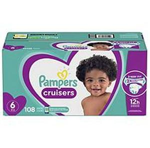 Pampers Cruisers Disposable Diapers One Month Supply - Size 6 (108ct)