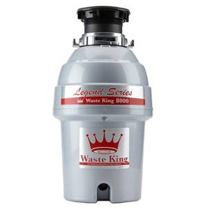 Waste King L-8000 Silver Ez-Mount System, 1 Hp 2800 Rpm, Continuous Feed Garbage Disposal,