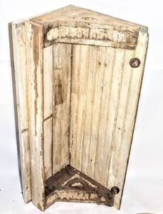 "Antique Old Wooden Ornate Hanging Wall Shelf 36.5"" Long x 14"" Tall x 13"" deep"