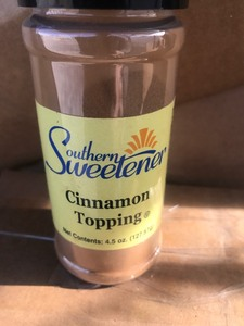Case of six bottles of cinnamon sugar mix great for coffee drinks use your imagination