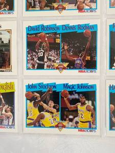 Early 90's Dual Player Basketball Cards - Moses Malone - Robinson - Rodman - Miller