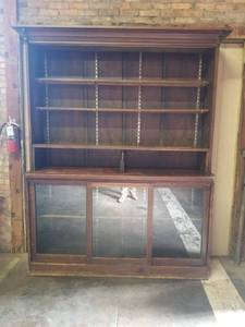 Antique Solid Wood Buffet Cabinet