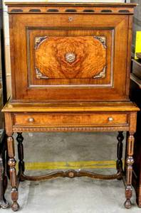 Beautiful 19th Century Antique Drop Front Mahogany Secretaries Writing Desk