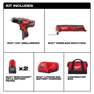 Milwaukee M12 12-Volt Lithium-Ion Cordless Drill Driver/Multi