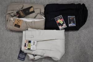 Lot of 3 New w. Tags Big & Tall Mens Clothes Roundtree & York Dress & Cargo Shorts Size 52 - WILL SHIP