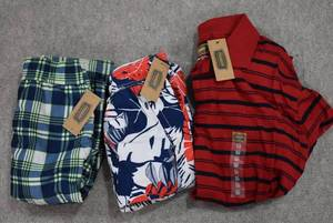 Lot of 3 New w. Tags Big & Tall Mens Clothes Foundry Swim Trunks Size 2XL; Foundry Long Sleeve T Size 2XL  - WILL SHIP