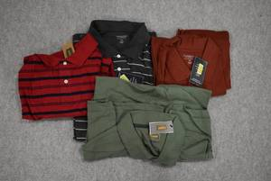 Lot of 4 New w. Tags Big & Tall Mens Clothes Foundry Polo Shirts Size 2XL; Roundtree & Yorke Polo Shirts Size 2XL  - WILL SHIP