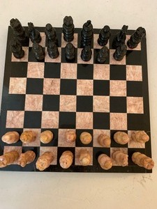 Chess Set Marble with one piece missing