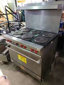 Vulcan 6 burner electric range
