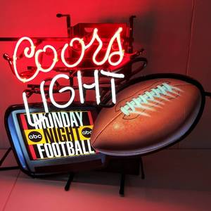 """Coors Light"" Monday Night Football Neon w/ Interchangeable ""College Football"""