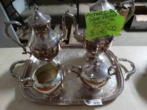 5 Piece Silver Plated Coffee/Tea Set