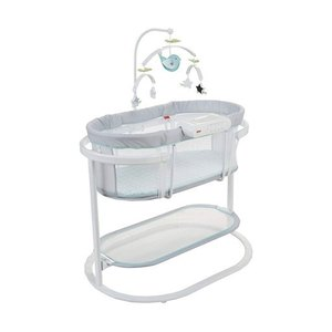 Fisher-Price DPV71 Soothing Motions Swaying Baby Bassinet with Lights and Sounds