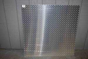 "Sheet MD Building Products Aluminum Diamond Tread Decorative Sheet 36"" x 36"" x .025"""