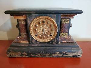 ANTIQUE SETH THOMAS ADAMANTINE CLEAN MANTLE
