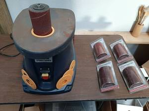 Oscillating Spindle Sander with Sanding Sleeves