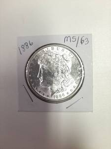 1886 Morgan Silver Dollar - MS63