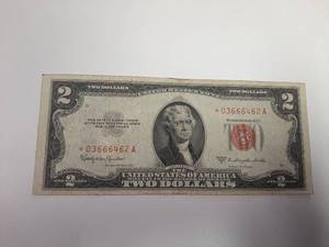 Series 1953C Red Seal 2 Dollar Bill