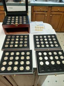 Presidential Dollar Coins in Presentation Box - 95 Coins