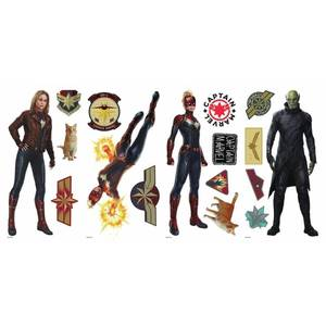 Captain Marvel Peel and Stick Wall Decals - RoomMates lot of 2