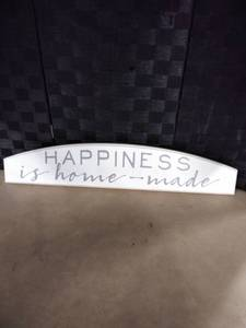 Happiness is Home - Made Sign
