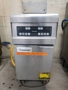 Fymaster Natural Gas Fryer PH155SD On Casters