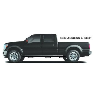 N-FAB F9995QC-6-TX Textured Black Nerf Step; Bed Access Ford F250 / F350 Super Duty SuperCab 6.75' Bed 99-16