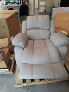 grey  recliner swivel glider