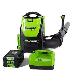 80V Backpack Blower with 2.5 ah Battery and Charger - Electric Lime - GreenWorks