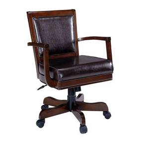 Poker Chairs by Hillsdale Furniture (Ambassador Caster Game Chair in Rich Cherry Finish)