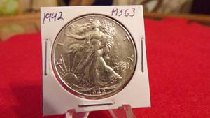 1942 WALKING LIBERTY HALF MS63