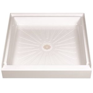 DURABASE FIBERGLASS SQUARE SHOWER FLOOR, WHITE, 32 X 32 IN.