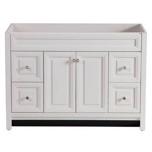 Home Decorators Collection Brinkhill 48 in. W x 34 in. H x 22 in. D Bath Vanity Cabinet Only in Cream DAMAGED