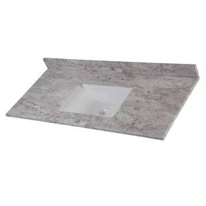 Home Decorators Collection 49 in. W x 22 in. D Stone Effects Single Sink Vanity Top in Winter Mist